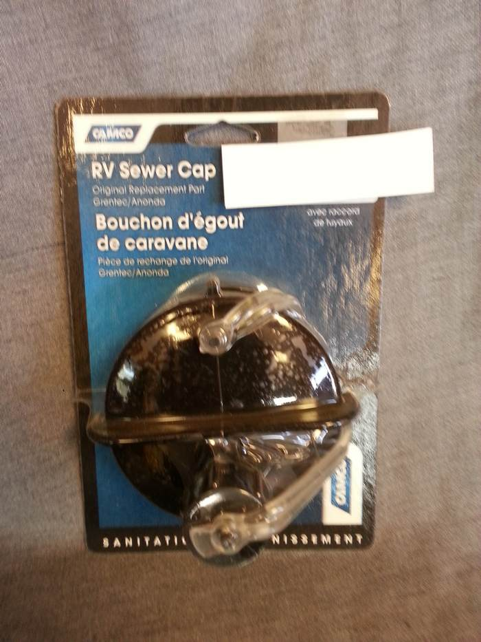 RV SEWER CAP W/ HOSE CONNE