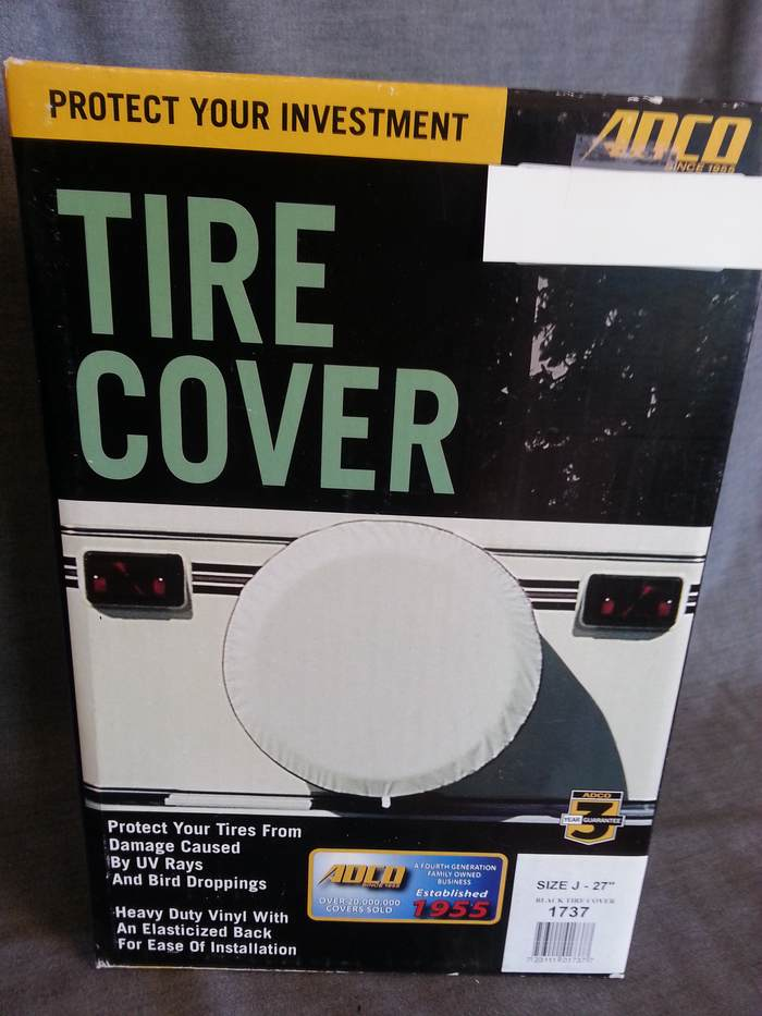 SPARE TIRE COVER- BLACK