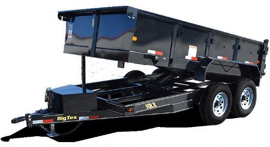 Big Tex 10LX DUMP Bumperpull Flatbed & Sport Utility Trailer