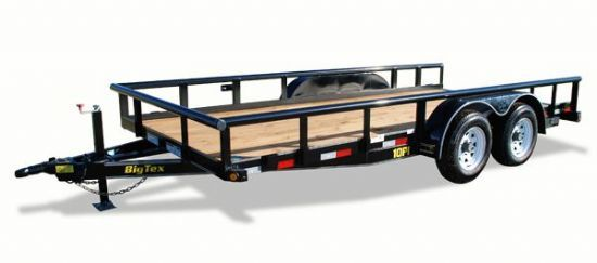 Big Tex 10PI Bumperpull Flatbed & Sport Utility Trailer