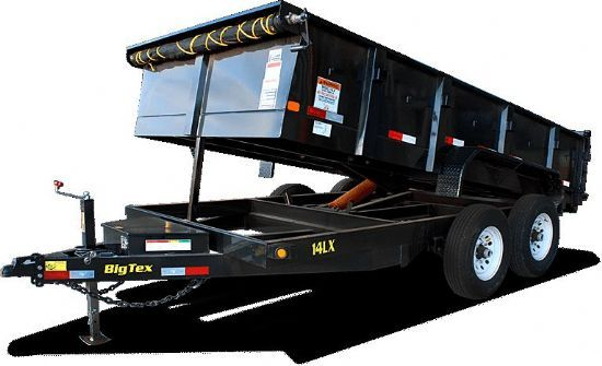 Big Tex 14LX DUMP Bumperpull Flatbed & Sport Utility Trailer