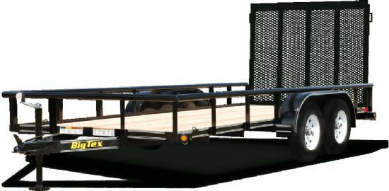 Big Tex 45SS Bumperpull Flatbed & Sport Utility Trailer