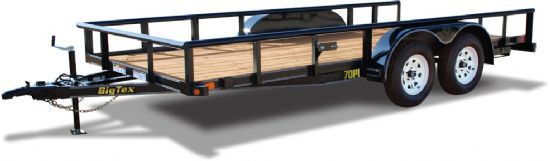 Big Tex 70PI Bumperpull Flatbed & Sport Utility Trailer