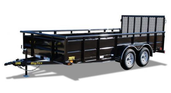 Big Tex 70TV Bumperpull Flatbed & Sport Utility Trailer