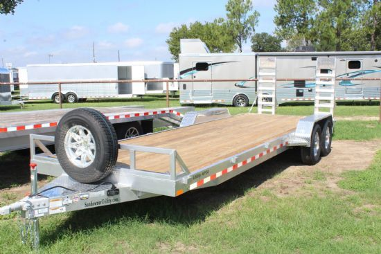 2019 Sundowner 24' APU All Purpose Utility Bumperpull Flatbed & Sport Utility Trailer