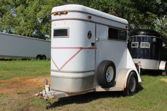 1985 Sundowner Inline  1 Horse Straight Load Bumperpull Horse Trailer SOLD!!!