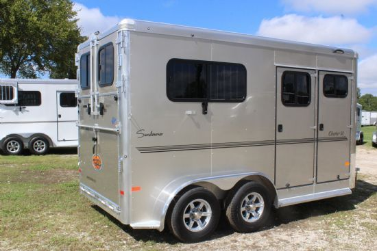 2018 Lakota C8415 Charger w/ Slide Out and Flip Down Bunk  4 Horse Slant Load Gooseneck Horse Trailer With Living Quarters SOLD!!!