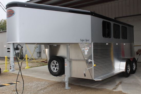 2019 Sundowner Super Sport  3 Horse Slant Load Gooseneck Horse Trailer SOLD!!!