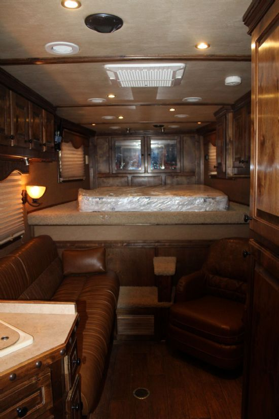 2010 4 Star 8013 with Outlaw Conversion  3 Horse Slant Load Gooseneck Horse Trailer With Living Quarters SOLD!!!