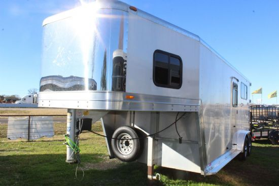 2003 Keifer Built Straight Load  2 Horse Straight Load Gooseneck Horse Trailer SOLD!!!