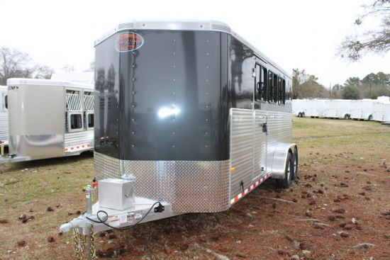 2019 Sundowner Super Sport Custom  3 Horse Slant Load Bumperpull Horse Trailer