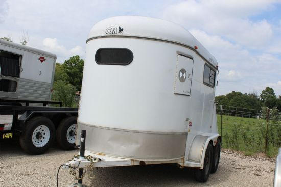 2001 CM Circuit Champ  2 Horse Straight Load Bumperpull Horse Trailer SOLD!!!