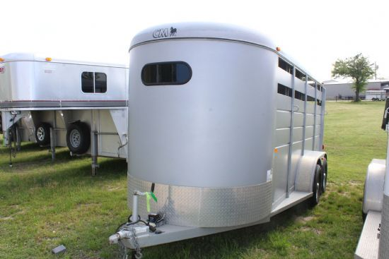 2012 CM Dakota  3 Horse Slant Load Bumperpull Horse Trailer