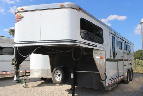 2006 Sundowner Valuelite 727 GN  3 Horse Slant Load Gooseneck Horse Trailer SOLD!!!