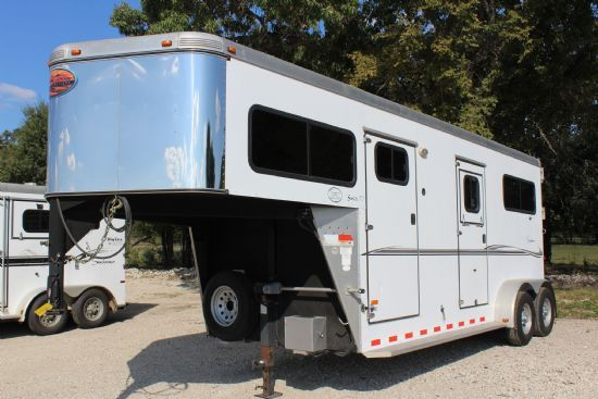 2009 Sundowner 777 w/ Side Ramp  2 Horse Straight Load Gooseneck Horse Trailer SOLD!!!