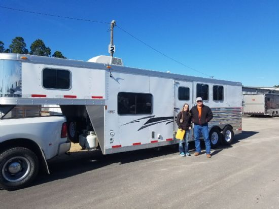2012 Exiss 6308  3 Horse Slant Load Gooseneck Horse Trailer With Living Quarters SOLD!!!