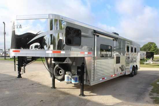 2020 Lakota C8313 RK Charger w/ Slide Out  3 Horse Slant Load Gooseneck Horse Trailer With Living Quarters SOLD!!!