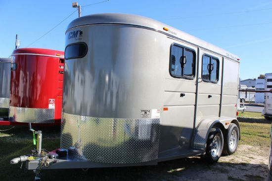 2017 CM Dakota  2 Horse Slant Load Bumperpull Horse Trailer SOLD!!!