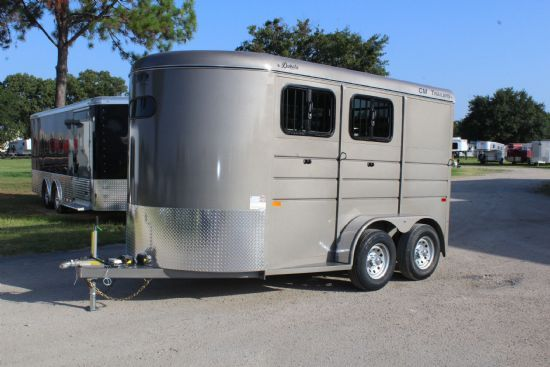 2020 CM Dakota  2 Horse Slant Load Bumperpull Horse Trailer