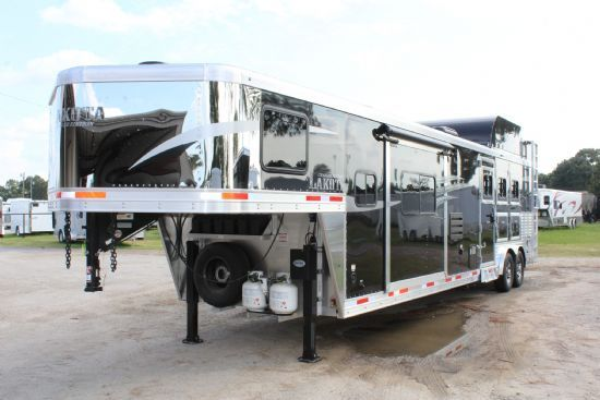 2020 Lakota C8315 SR Charger w/ 6' Slide Out  3 Horse Slant Load Gooseneck Horse Trailer With Living Quarters SOLD!!!