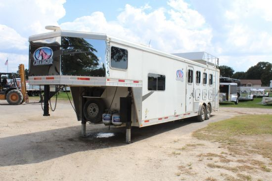 2009 Lakota C8413 Charger 4 Horse Slant Load w/ Living Quarters  4 Horse Slant Load Gooseneck Horse Trailer With Living Quarters SOLD!!!