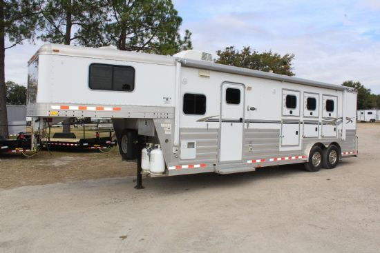 2007 4-Star 4-Star w/ Outlaw Conversion  3 Horse Slant Load Gooseneck Horse Trailer With Living Quarters SOLD!!!