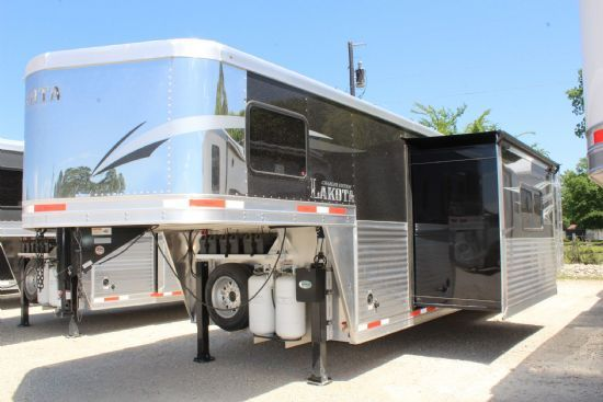 2018 Lakota C8417 eh sr Charger w/ 9' Slide Out  4 Horse Slant Load Gooseneck Horse Trailer With Living Quarters SOLD!!!