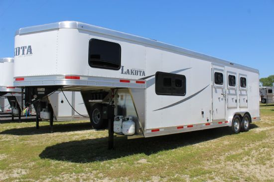 2020 Lakota AC839 Colt  3 Horse Slant Load Gooseneck Horse Trailer With Living Quarters SOLD!!!