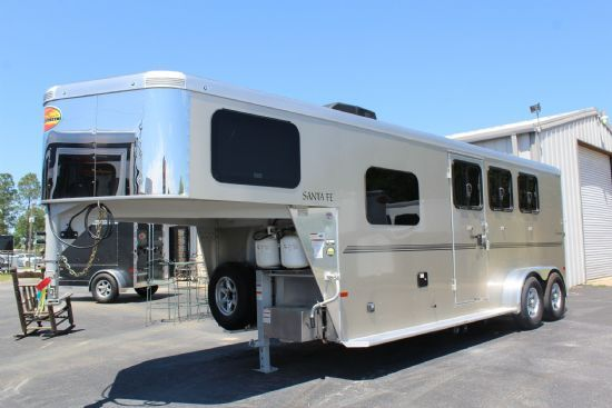 2021 Sundowner 6906 Santa Fe  3 Horse Slant Load Gooseneck Horse Trailer With Living Quarters