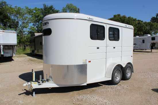 2020 CM Dakota  2 Horse Slant Load Bumperpull Horse Trailer SOLD!!!