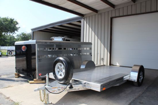 2019 Sundowner 8112 SUT / STOCKBOX COMBO Bumperpull Flatbed & Sport Utility Trailer SOLD!!!
