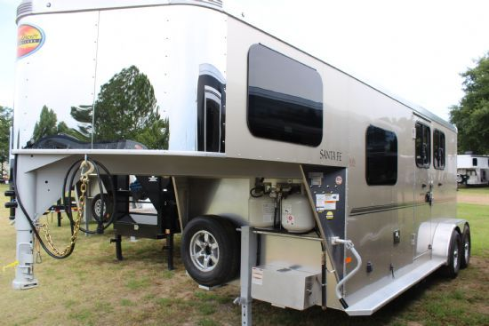 2021 Sundowner 6906 Santa Fe  2 Horse Slant Load Gooseneck Horse Trailer With Living Quarters