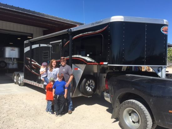2017 Sundowner 2086 Toy Hauler w/ Open Deck and Garage Gooseneck Motorsports & Toy Hauler With Living Quarters SOLD!!!