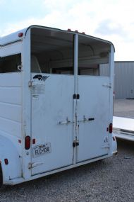2000 S & H   2 Horse Straight Load Bumperpull Horse Trailer SOLD!!!