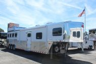 2017 Sundowner Circuit Series 8016 SIGNATURE QUARTER EDITION  4 Horse Slant Load Gooseneck Horse Trailer With Living Quarters